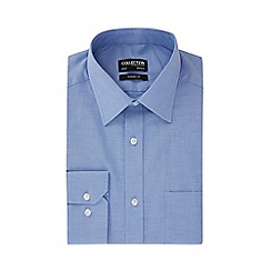The Collection - Big and tall blue cotton long sleeve classic fit Oxford shirt