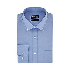 The Collection - Big and tall blue long sleeves tailored fit oxford shirt