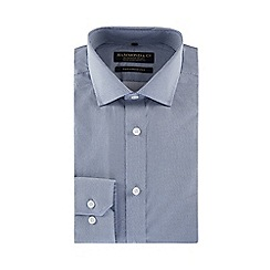 Hammond & Co. by Patrick Grant - Navy diamond print long sleeve tailored fit shirt in a gift box