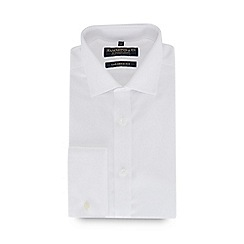 Hammond & Co. by Patrick Grant - White diagonal twill long sleeve tailored fit shirt