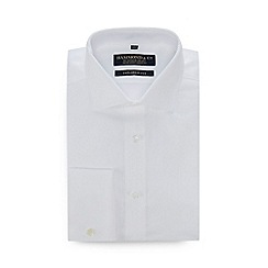 Hammond & Co. by Patrick Grant - White diagonal twill extra long sleeve length tailored fit shirt