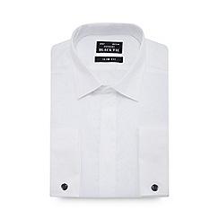 Black Tie - White textured long sleeve slim fit shirt