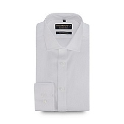 Hammond & Co. by Patrick Grant - Big and tall white dobby long sleeve cotton tailored fit shirt