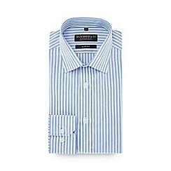 Hammond & Co. by Patrick Grant - Blue striped long sleeve slim fit shirt