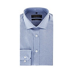 Hammond & Co. by Patrick Grant - Blue long sleeve tailored fit shirt