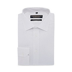 Hammond & Co. by Patrick Grant - White spotted long sleeve tailored fit shirt