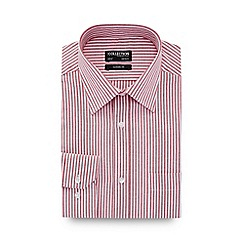 The Collection - Red Stripe Print Long Sleeve Classic Fit Oxford Shirt