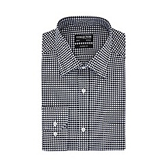 The Collection - Big and tall navy gingham print long sleeves classic fit oxford shirt