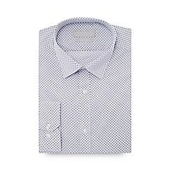 Red Herring - White geometric print long sleeve slim fit shirt
