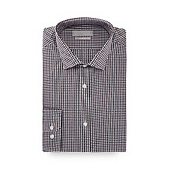 Red Herring - Navy check print long sleeve slim fit shirt