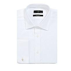 J by Jasper Conran - Big and tall designer white tailored textured shirt