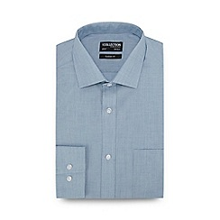 The Collection - Turquoise Long Sleeve Classic Fit Shirt
