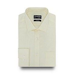 The Collection - Light Yellow Long Sleeve Classic Fit Shirt