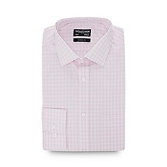 The Collection - Light Pink Gingham Check Long Sleeve Classic Fit Shirt