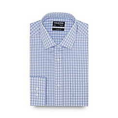 The Collection - Light Blue Gingham Check Long Sleeve Classic Fit Shirt
