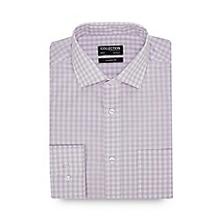 The Collection - Lilac Gingham Check Long Sleeve Classic Fit Shirt