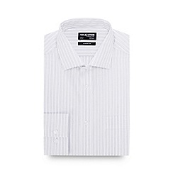 The Collection - White Striped Long Sleeve Classic Fit Shirt