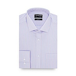 The Collection - Pink Striped Long Sleeve Classic Fit Shirt
