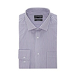 The Collection - Purple Stripe Print Long Sleeve Classic Fit Shirt