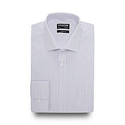 The Collection - LIlac Stripe Print Long Sleeve Classic Fit Shirt