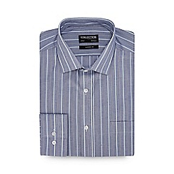 The Collection - Blue Stripe Long Sleeve Classic Fit Shirt
