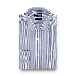 The Collection - Blue Striped Long Sleeve Classic Fit Shirt