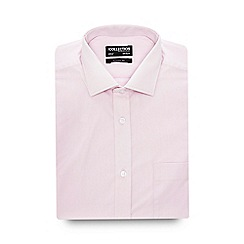 The Collection - Big and tall light pink short sleeve regular fit shirt
