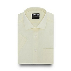 The Collection - Light Yellow Short Sleeve Regular Fit Shirt
