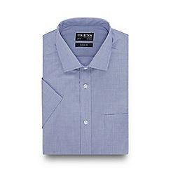 The Collection - Blue Short Sleeve Regular Fit Shirt