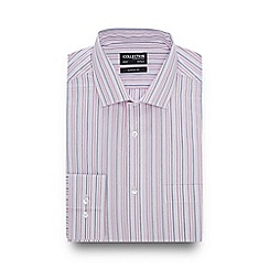The Collection - Pink Stripe Long Sleeve Classic Fit Shirt
