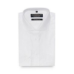 Hammond & Co. by Patrick Grant - White Herringbone Stripe Long Sleeve Tailored Fit Shirt