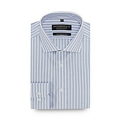 Hammond & Co. by Patrick Grant - Light Blue Striped Long Sleeve Tailored Fit Shirt