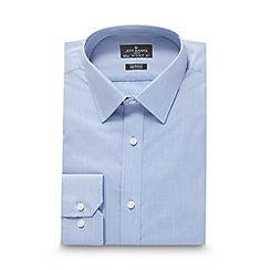 Jeff Banks - Big and tall designer light blue mini checked shirt