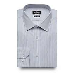 Jeff Banks - Big and tall designer grey striped tailored shirt