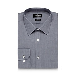 Jeff Banks - Big and tall designer grey two tone tailored shirt