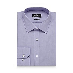 Jeff Banks - Big and tall designer lilac two tone tailored shirt