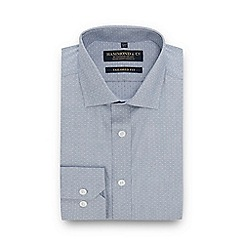 Hammond & Co. by Patrick Grant - Grey Pin Dot Long Sleeve Tailored Fit Shirt