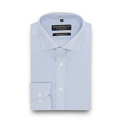 Hammond & Co. by Patrick Grant - Blue Check Long Sleeve Tailored Fit Shirt