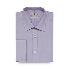 J by Jasper Conran - Designer lilac heavy zigzag tailored shirt