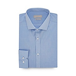 Red Herring - Light Blue Chambray Long Sleeve Slim Fit Shirt