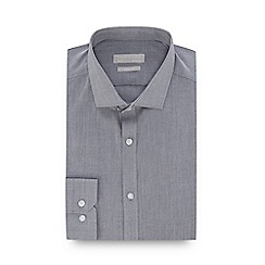 Red Herring - Light Grey Chambray Long Sleeve Slim Fit Shirt