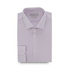 Red Herring - Light Pink Fine Check Long Sleeve Slim Fit Shirt