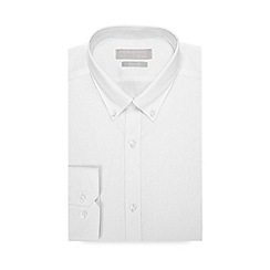 Red Herring - White Long Sleeve Slim Fit Shirt