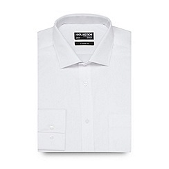 The Collection - Big and tall white plain regular fit shirt