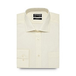 The Collection - Big and tall cream plain regular fit shirt