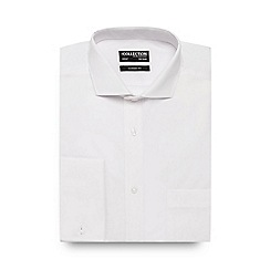 The Collection - Big and tall white double cuff regular fit shirt