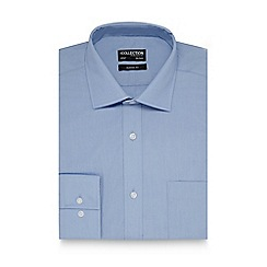 The Collection - Big and tall light blue plain regular fit shirt