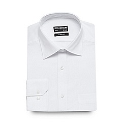 The Collection - Big and tall white cotton twill shirt