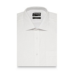 The Collection - Big and tall white short sleeved regular fit shirt