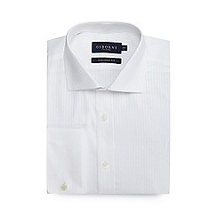 Osborne - White satin striped tailored shirt
